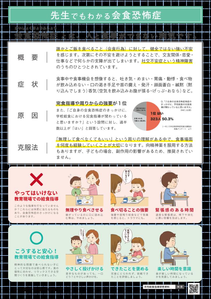 きゅうけん発行イラスト付き資料「先生でもわかる会食恐怖症」のキャプチャ
